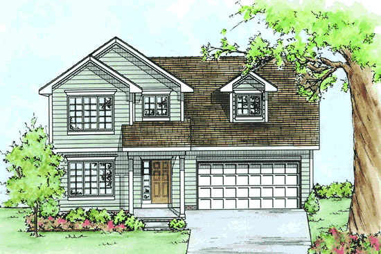Two Story Home | New Home Sales Macomb Michigan 2 Story Master Down